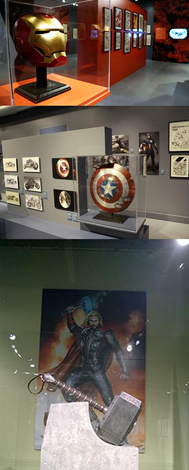 objets des films marvel