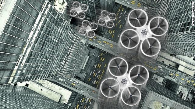 drones dans le ciel