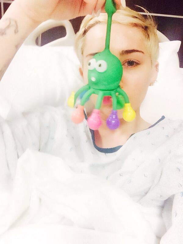 tweet miley cyrus hospital
