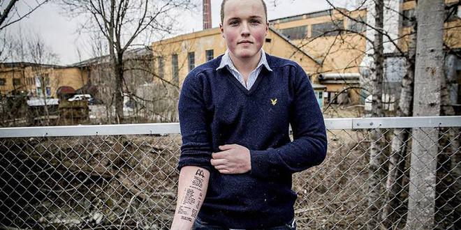 Stian Ytterdahl second tatouage bras facture