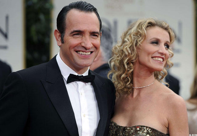 Jean dujardin officialise son couple avec nathalie for Jean dujardin couple 2014