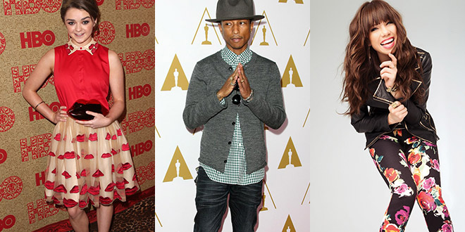 carly rae jepsen pharrell williams maisie williams
