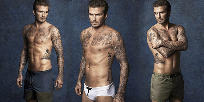 david beckham h&m maillots de bains ete 2014 collection