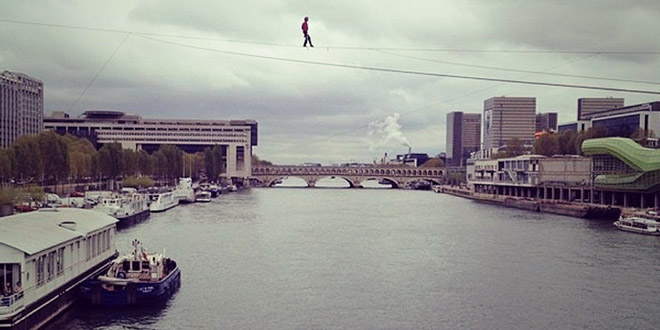 denis josselin equilibre traversee seine paris