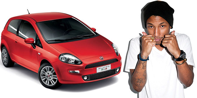 fiat punto musique pharrell williams happy