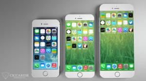 iphone 5S a côté de liphone 6
