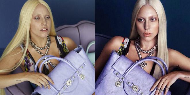 lady gaga affiche pub versace sans photoshop