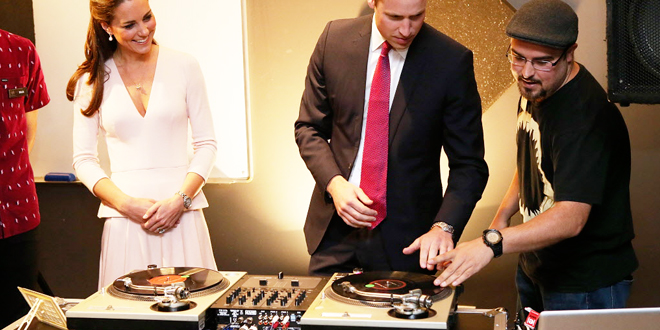 le prince William et Kate Middleton sont DJ !