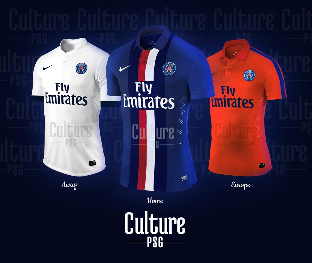 maillots 2014 2015 nouveaux psg paris