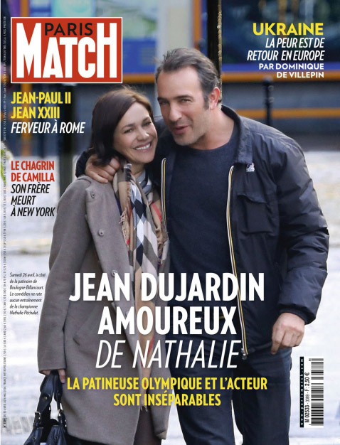 Jean dujardin officialise son couple avec nathalie for Jean dujardin pechalat