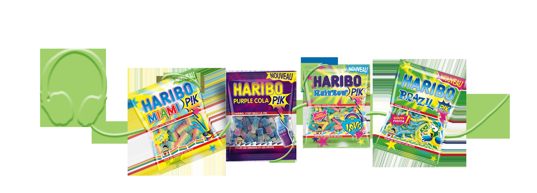paquets de bonbons haribo pik