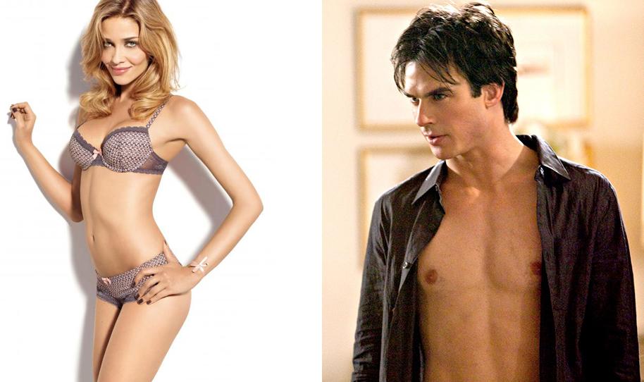 les deux top models de la pub azzaro