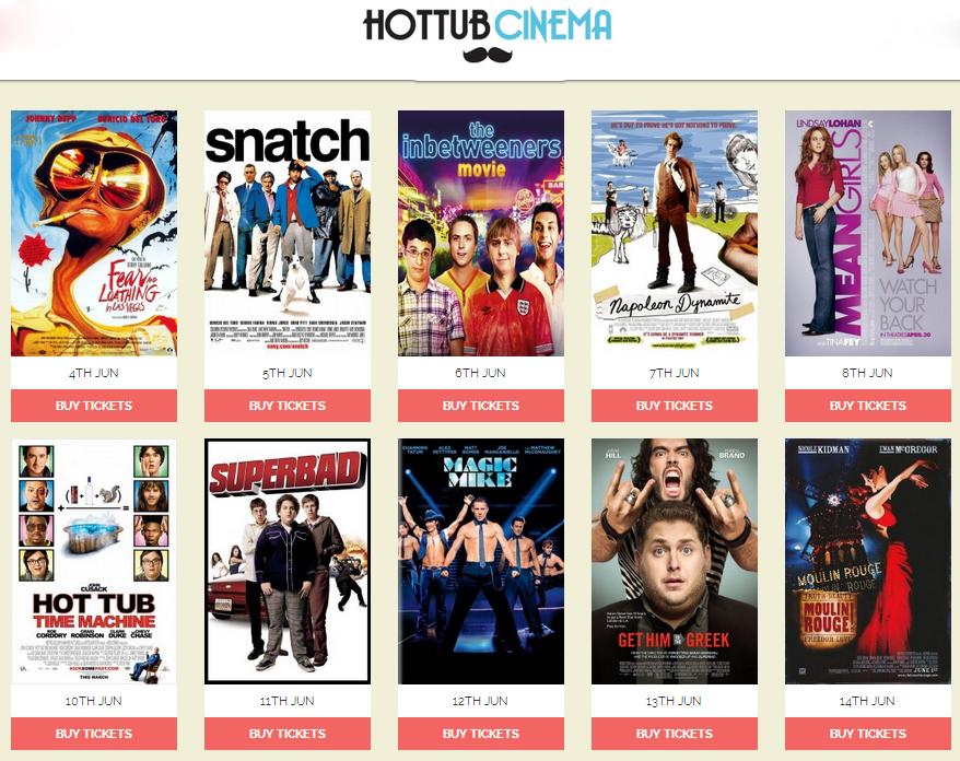 hot tub cinema films