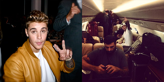 bieber cannes vanity fair jet prive