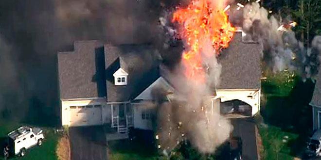 explosion d'une maison aux usa