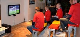 tribunes dans le salon match foot