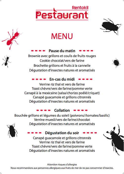 pestaurant menu