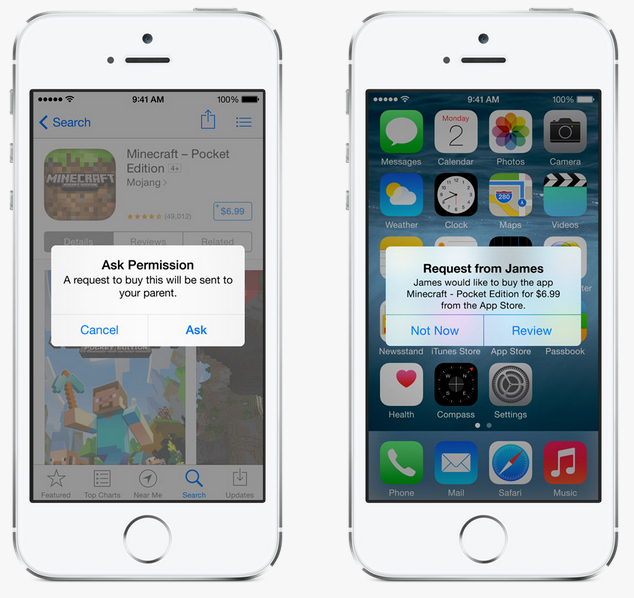 controle parental iphone ios 8
