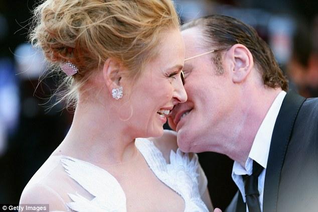 uma thurman quentin tarantino couple baiser
