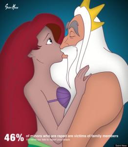 viol familial princesses disney