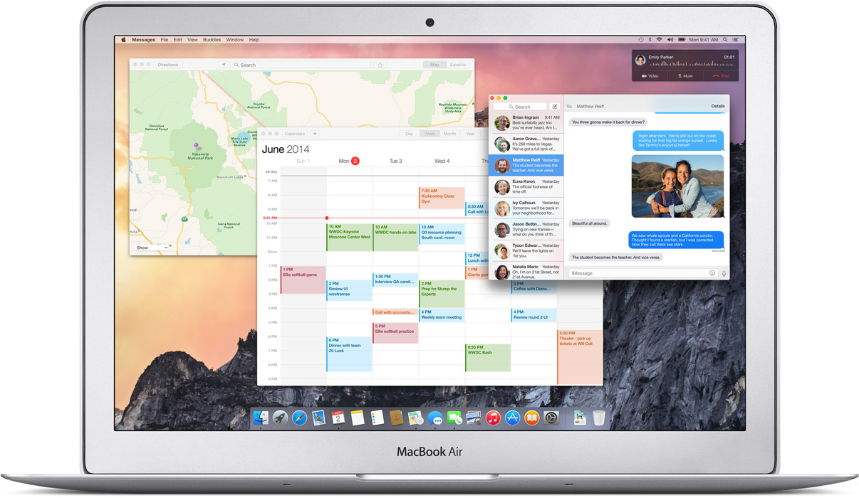 mac os x yosemite apps