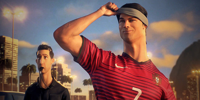 cristiano ronaldo dessin anime nike risk everything