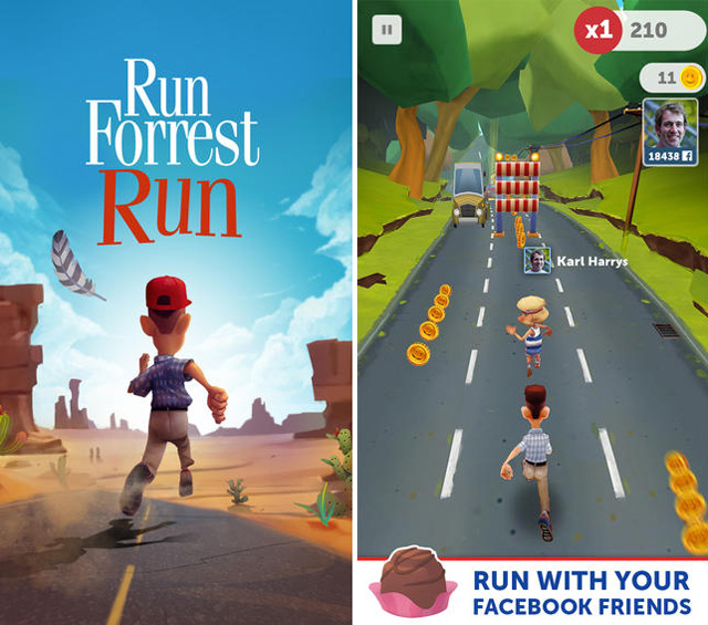forrest run jeu video