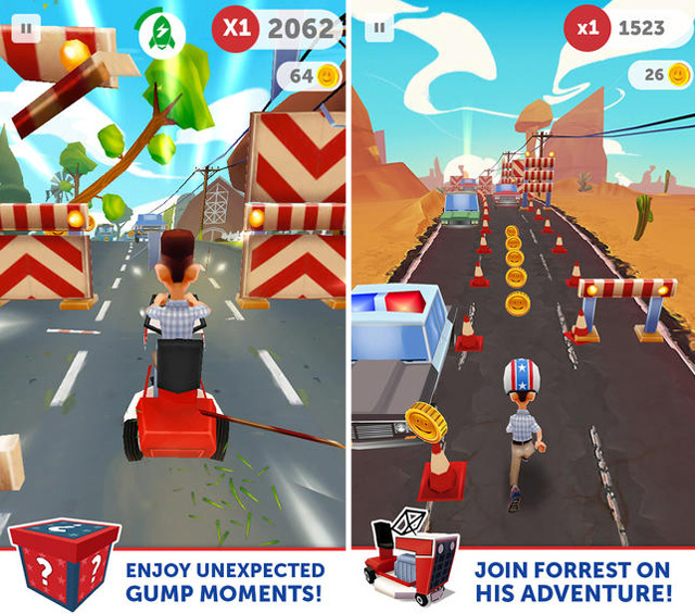 forrest run jeu video ios android