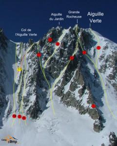 aiguille verte disparition alpiniste