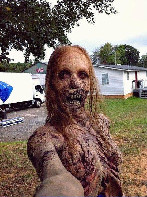 selfie grand mere morte