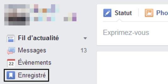 fonction sauvegarder facebook enregistrer