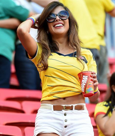 Les plus belles supportrices de la coupe du monde 2014 colombie