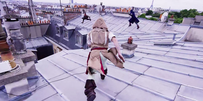 french freerun family assassins creed unity parkour paris video