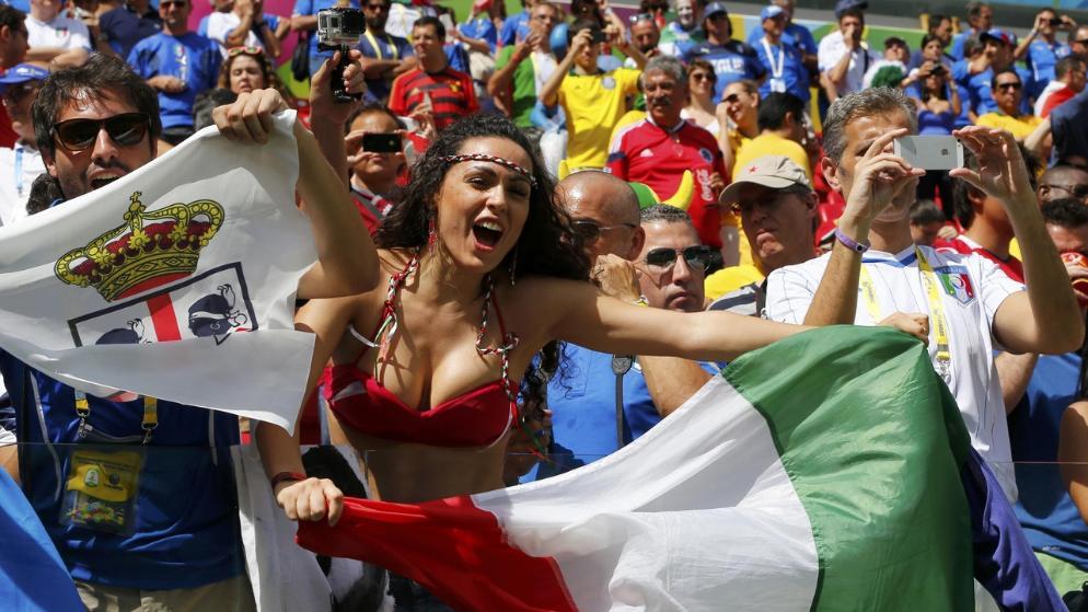 Les plus belles supportrices de la coupe du monde 2014 Italie