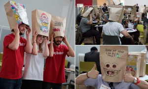 Bags of fun? Speed dating with concealed faces sweeps London