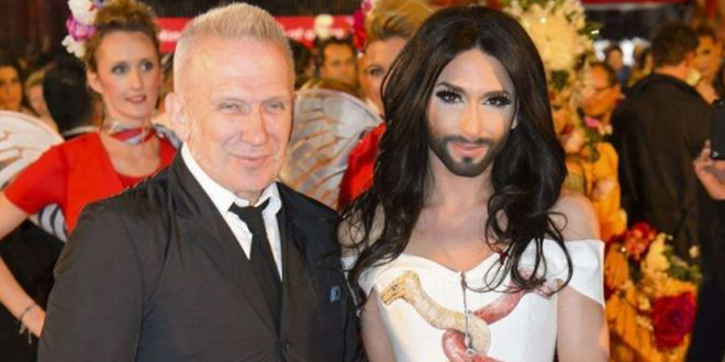 conchita Wurst defile jean paul gaultier