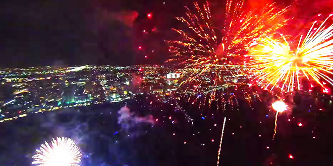 feux artifice film gopro floride