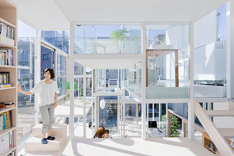 top maisons insolites transparent japon appartement