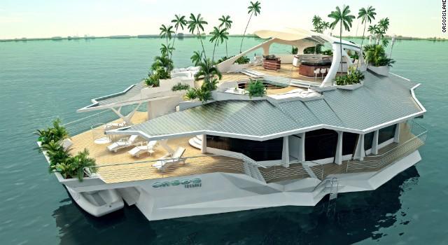orsos island ile sur un bateau