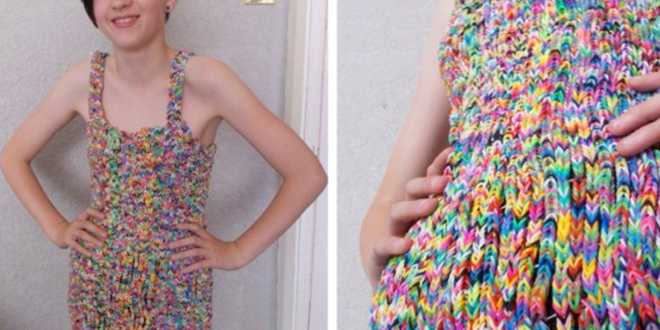 rainbow-loom robe