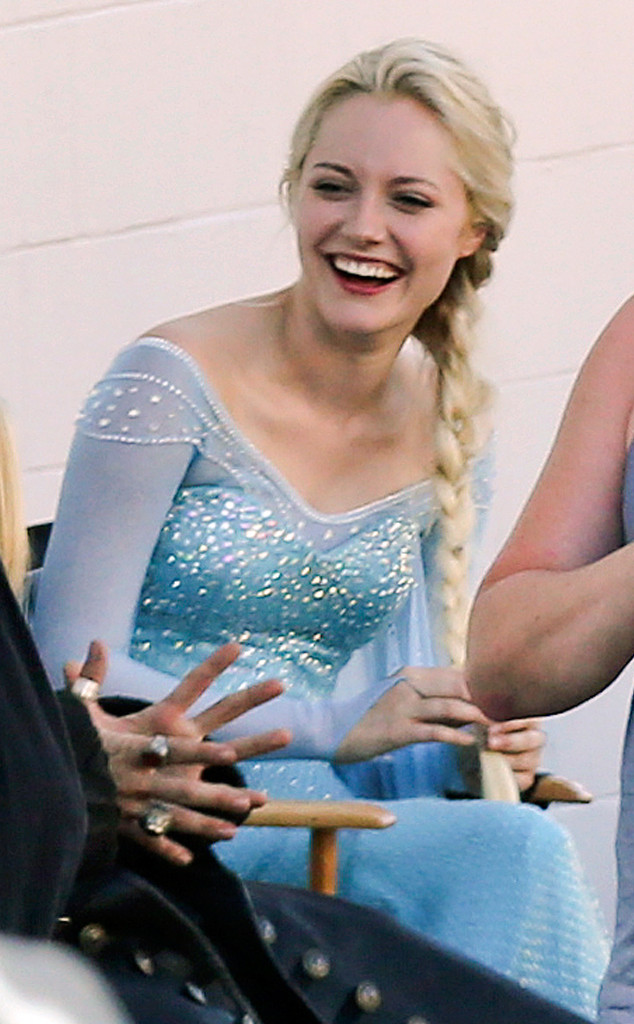 georgina haig reine des neiges once upon a time frozen tournage