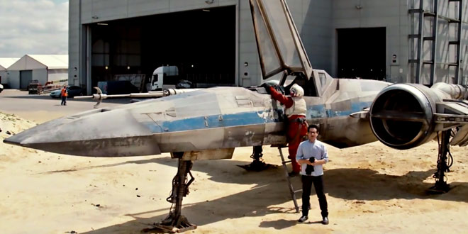 star wars 7 nouvelle video x wing jj abrams
