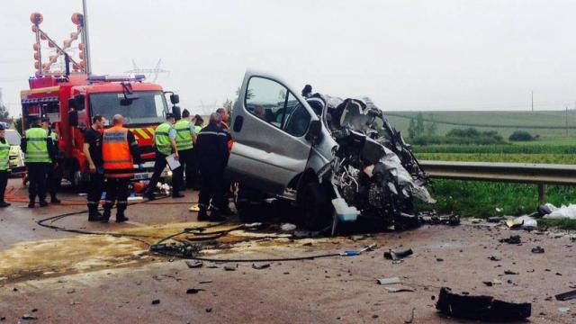 accident minibus nangis poids lourd enfants