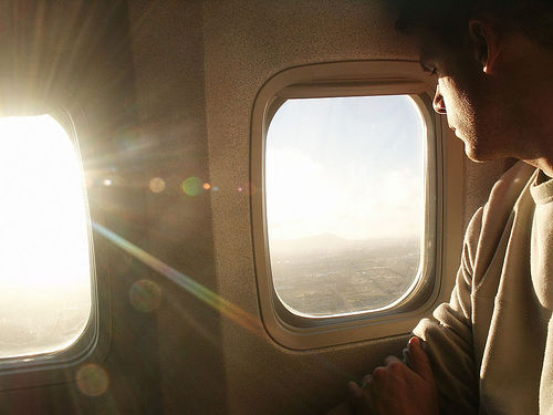 vitre cassée avion