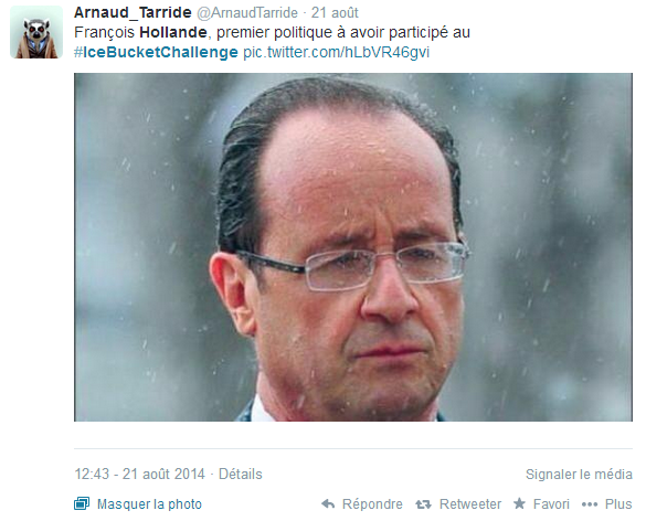 hollande ice bucket challenge