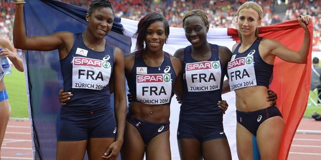 filles france course 4 x100m