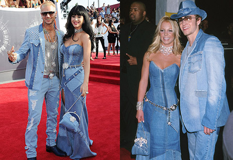 katy perry look jean britney spears vma music awards