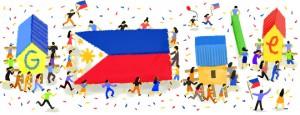 fete independance philippines doodle