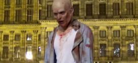 video zombie amsterdam camera cachee mort vivant