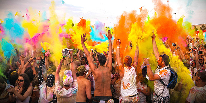 holi one festival couleurs